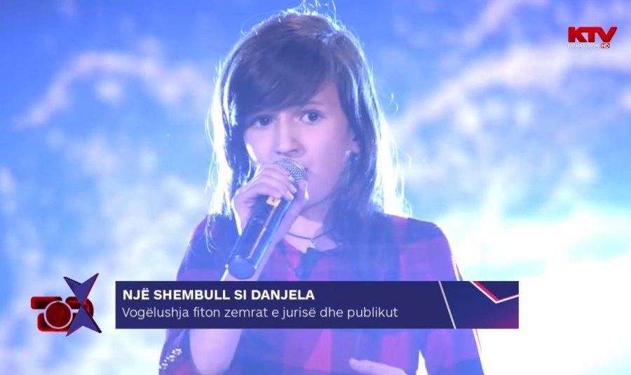 Një shembull si Danjela, vogëlushja fiton zemrat e jurisë dhe publikut