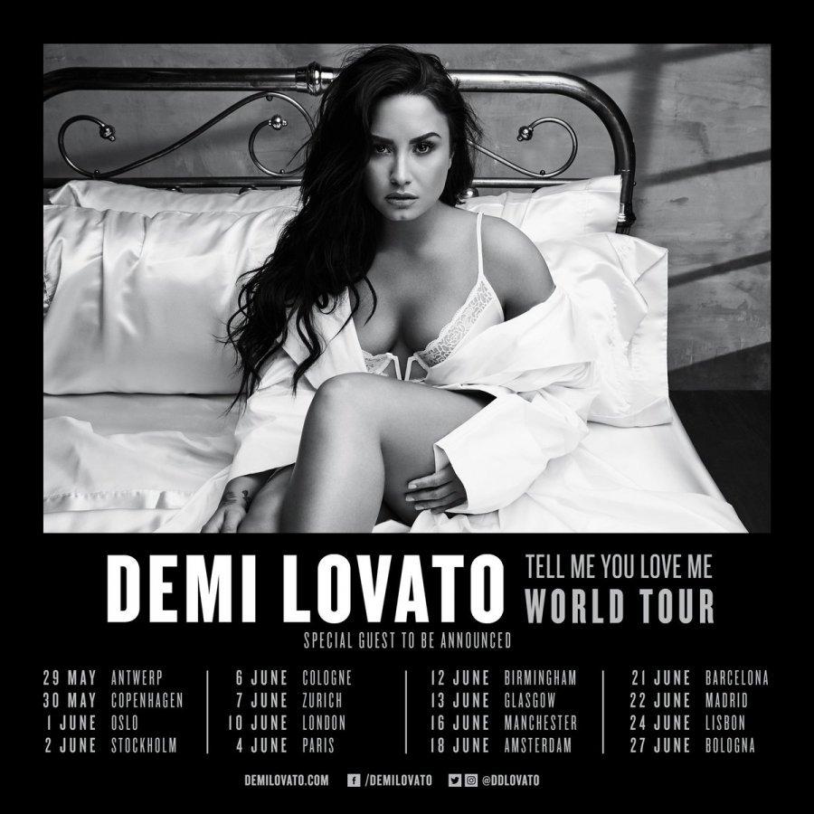 Demi Lovato paralajmëron turneun e saj të parë në Britani