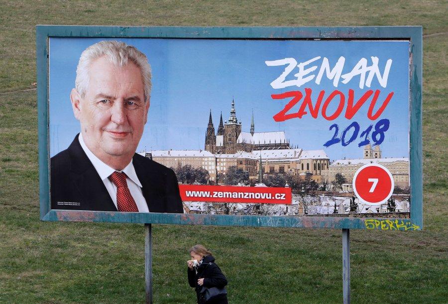 Zeman nuk siguron fitoren në raundin e parë të zgjedhjeve presidenciale në Çeki