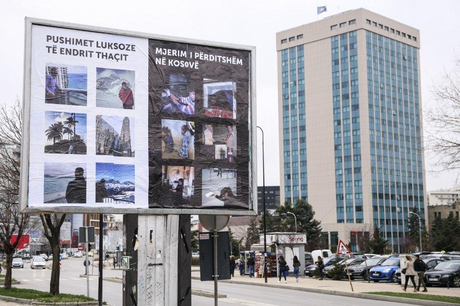 """VV me billborde ekspozon """"jetën luksoze"""" të djalit të Presidentit Thaçi"""